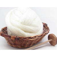 Blue Face Leicester Superwash Wool Undyed Spinning Fiber