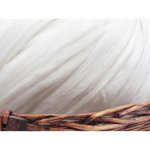 Merino and Tussah Silk Undyed Natural Spinning Fiber