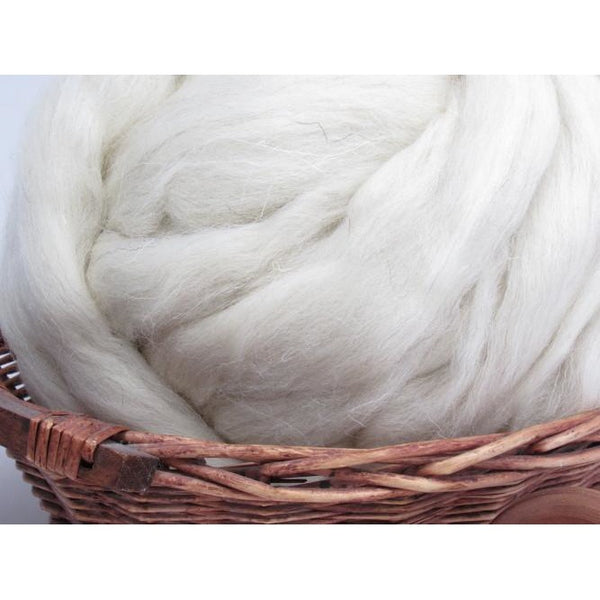 White Welsh Wool Top - 1oz