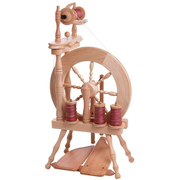 Ashford Traveller Spinning Wheel - Double Drive / Clear Finish - FREE Shipping
