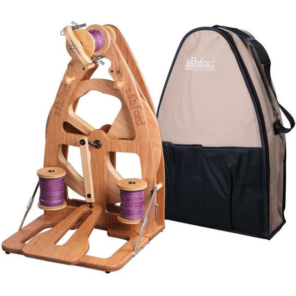 Ashford Joy-2 Spinning Wheel With Carry Bag - Single Treadle / Clear Finish