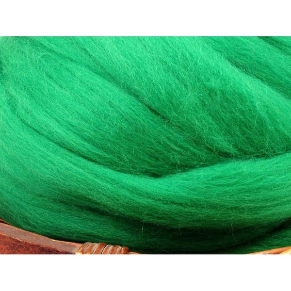 Dyed Corriedale Top / 1oz - Emerald