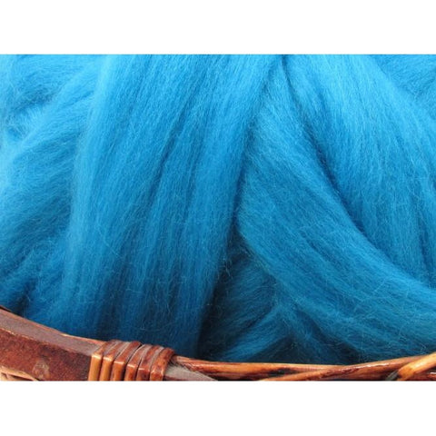 Dyed Corriedale Natural Spinning Fiber / 1oz - Mediterranean