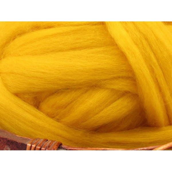 Dyed Corriedale Top / 1oz - Buttercup