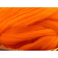 Dyed Corriedale Top / 1oz - Clementine