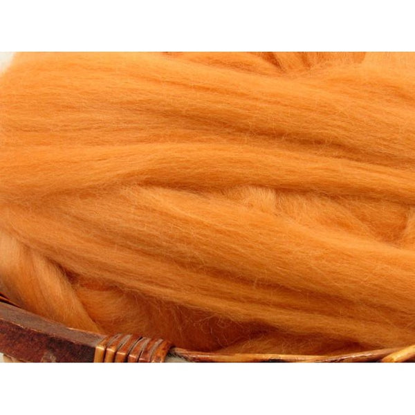 Dyed Corriedale Top / 1oz - Peach