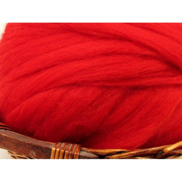 Dyed Corriedale Top / 1oz - Scarlet