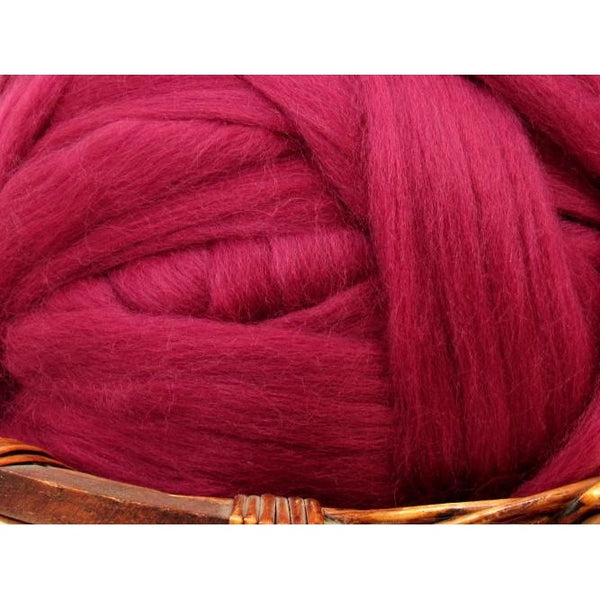 Dyed Corriedale Top / 1oz - Elderberry