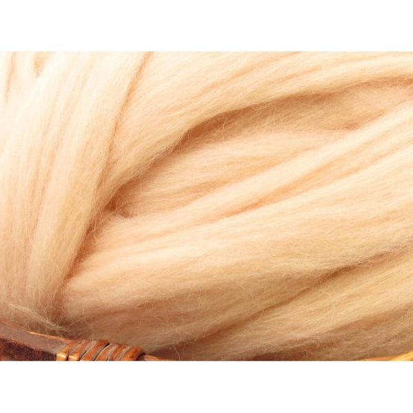 Dyed Corriedale Top / 1oz - Flesh
