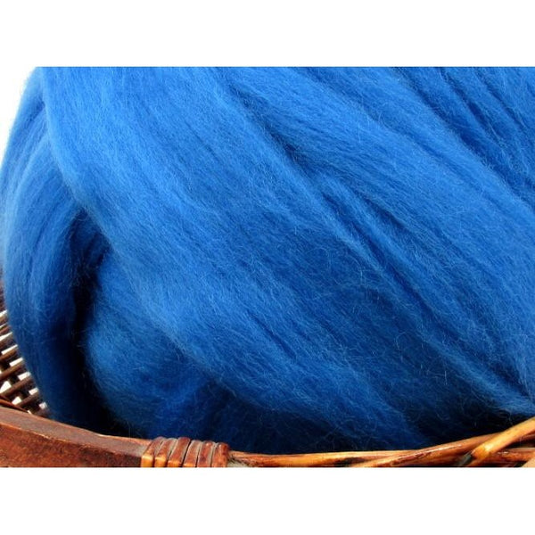 Dyed Corriedale Top / 1oz - Royal