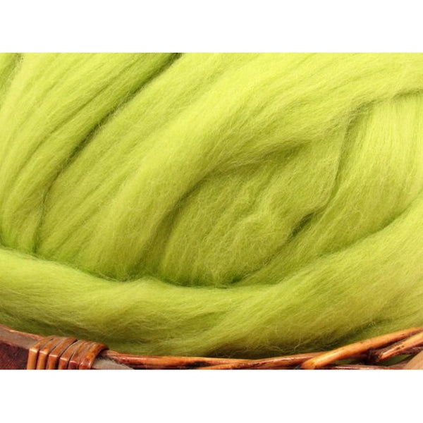 Dyed Corriedale Top / 1oz - Citrus