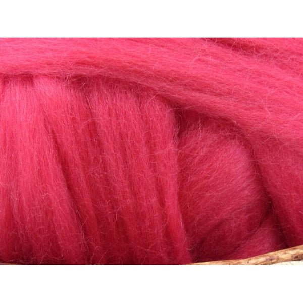 Dyed Corriedale Top / 1oz - Rose