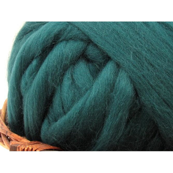 Dyed Corriedale Top / 1oz - Mallard
