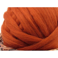 Dyed Corriedale Top / 1oz - Rust