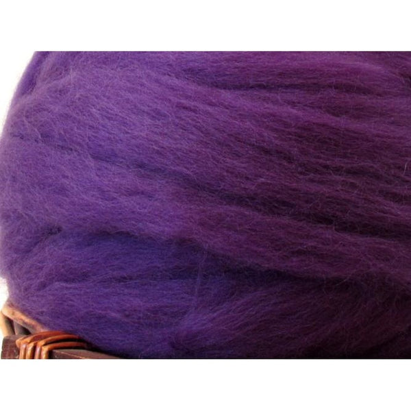 Dyed Corriedale Top / 1oz - Amethyst