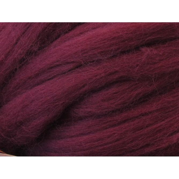 Dyed Corriedale Top / 1oz - Burgundy