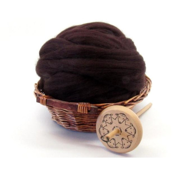 Dyed Corriedale Natural Spinning Fiber / 1oz - Mocha
