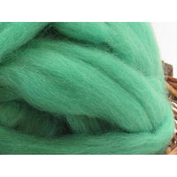 Dyed Corriedale Top / 1oz - Mint