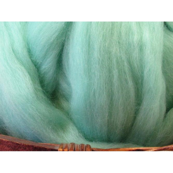 Dyed Corriedale Top / 1oz - Aqua
