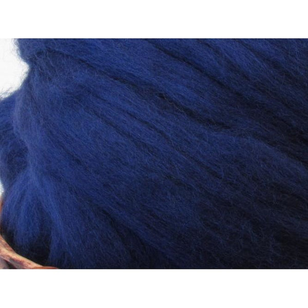 Dyed Corriedale Top / 1oz - Tanzanite