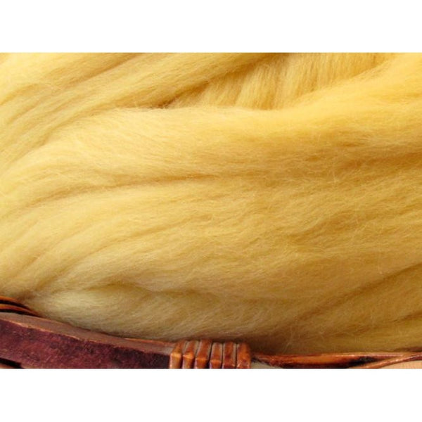 Dyed Corriedale Top / 1oz - Butter Cream