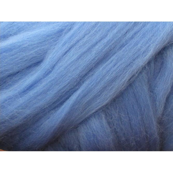 Dyed Corriedale Top / 1oz - Cornflower