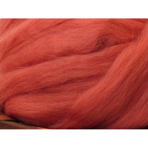 Dyed Corriedale Top / 1oz - Damask