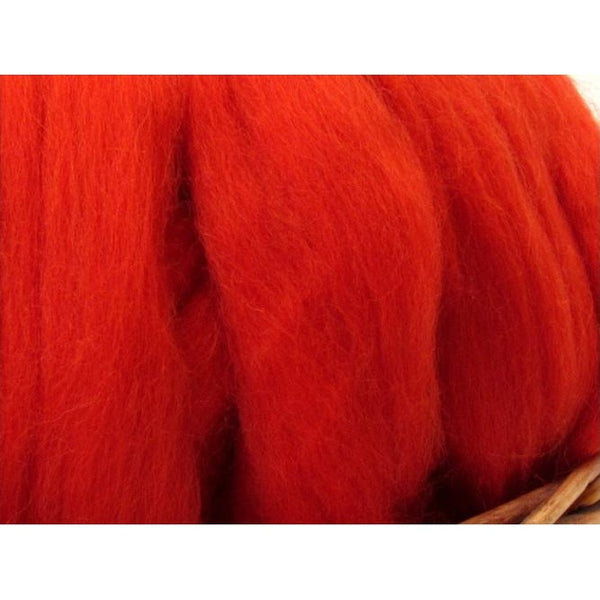 Dyed Corriedale Top / 1oz - Begonia