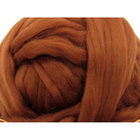 Dyed Corriedale Top / 1oz - Chocolate