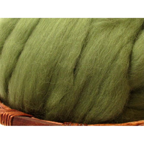 Dyed Shetland Natural Spinning Fiber / 1oz - Olive