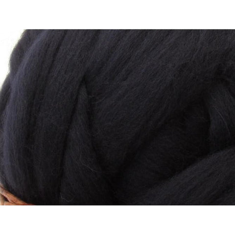 Dyed Shetland Natural Spinning Fiber / 1oz - Midnight