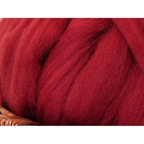 Dyed Shetland Natural Spinning Fiber / 1oz - Loganberry