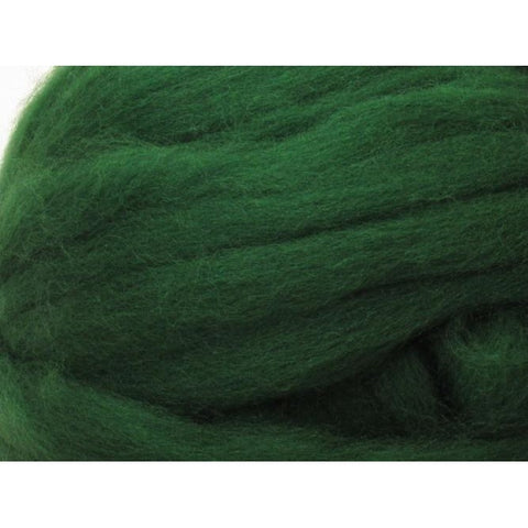 Dyed Shetland Natural Spinning Fiber / 1oz - Forest