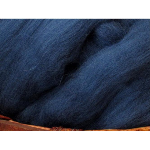 Dyed Shetland Natural Spinning Fiber / 1oz - Denim