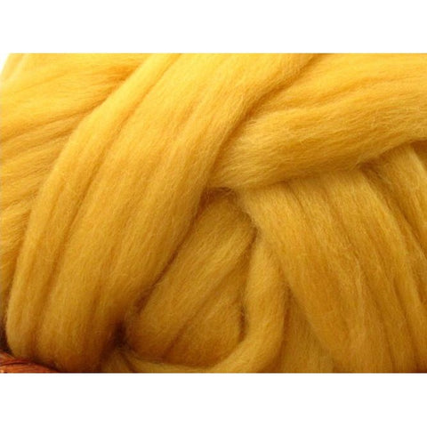 Dyed Shetland Natural Spinning Fiber / 1oz - Corn
