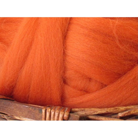 Dyed Shetland Natural Spinning Fiber / 1oz - Cinnamon