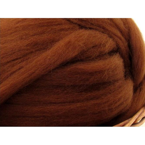 Dyed Shetland Natural Spinning Fiber / 1oz - Chocolate