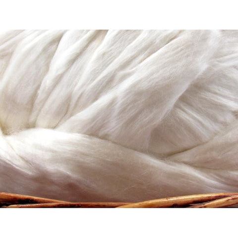 Seacell Fiber Top - Undyed Natural Spinning Fiber/ Roving - 1oz