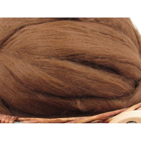 Light Brown Baby Alpaca Top - Undyed Natural Spinning Fiber/ Roving - 1oz