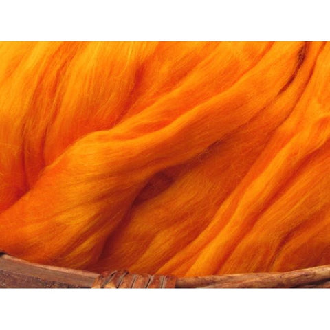 Bamboo Top - Orange Spinning Fiber / 1oz