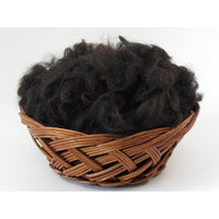 Black Huacaya Alpaca Washed Fleece