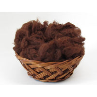 Brown Huacaya Alpaca Washed Fleece