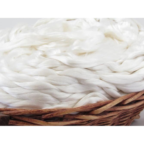 Cultivated Mulberry Silk Undyed Spinning Fiber