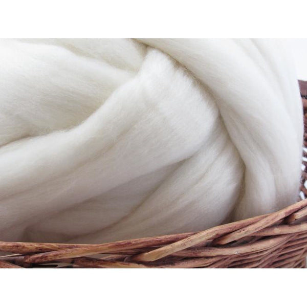 Falkland Wool Undyed Natural Spinning Fiber