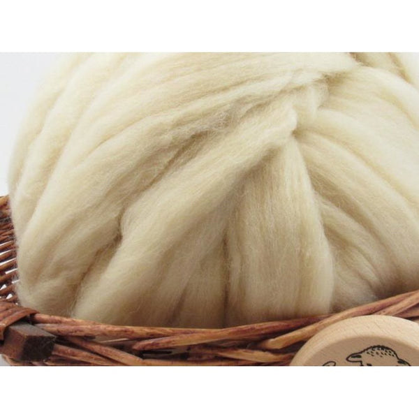 White Eider Wool Top - 1oz