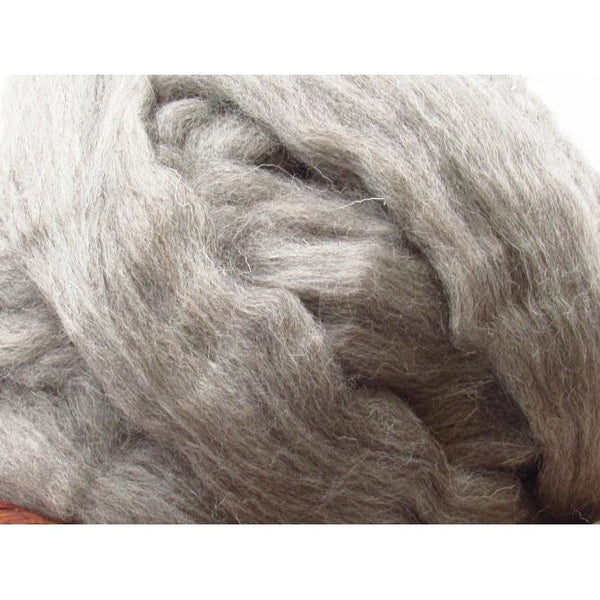 Mid-Grey Cheviot Wool Top - 1oz