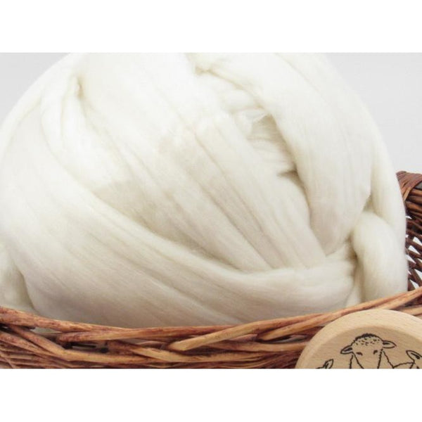 Superfine Merino 18.5 Micron Wool Top - 1oz