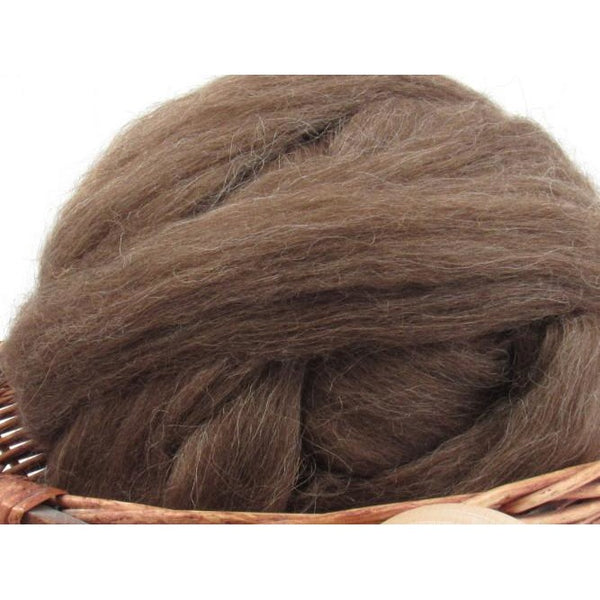 Brown Icelandic Wool Top - 1oz