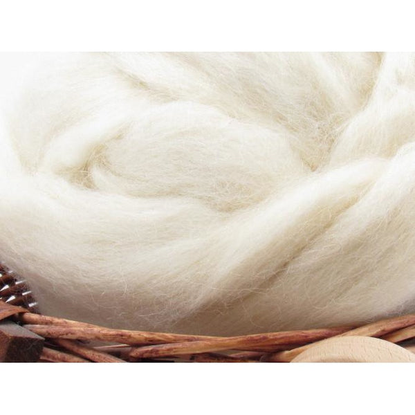 White Masham Wool Top - 1oz