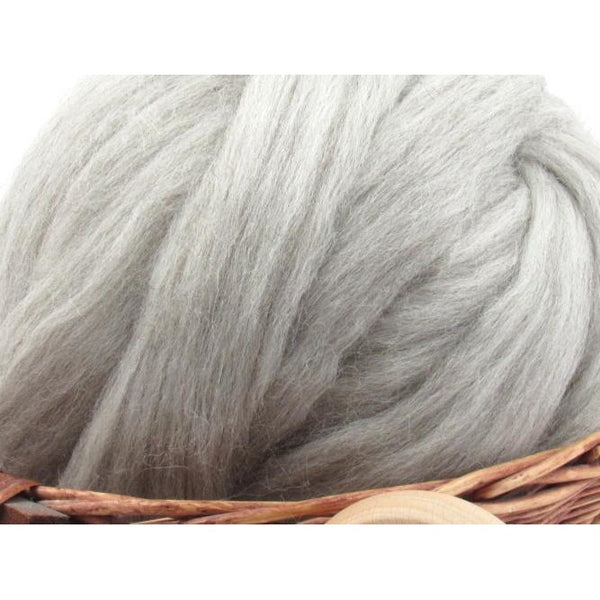 Natural Grey Corriedale Wool Top - 1oz